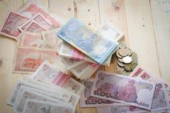 Tajlandzkiego bahta pieniądze Obrazy Royalty Free