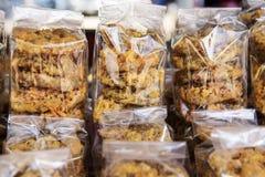 Tajlandzkiego deserowego nazwanego Khan Kong torta koła Tajlandzki deser Zdjęcie Royalty Free
