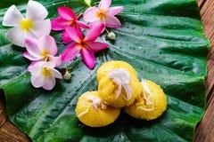 Tajlandzkiego deserowego toddy palmy torta słodki smak wyśmienicie Obraz Royalty Free