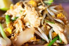Tajlandzkiego Karmowego ulubionego Tajlandzkiego cuisne Tajlandzkiego karmowego ochraniacza fertania dłoniaka tajlandzcy kluski Obrazy Stock