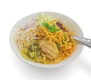 Tajlandzkiego północnego stylowego kurczaka crunchy kluski Zdjęcie Stock