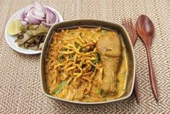 Tajlandzkiego stylowego kurczaka żółty curry Zdjęcia Stock