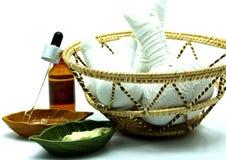 Tajlandzkiego Tradycyjnego zdroju Ziołowy masaż Ustawiający w tacy Fotografia Stock