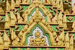 Tajlandzkiej świątyni ściany złocisty kolor Obraz Royalty Free