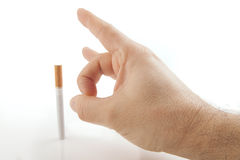 Tajma för att avsluta att röka Royaltyfri Bild