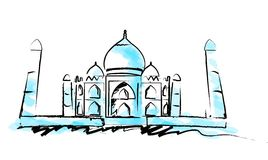 tajmahal illustrationindier Arkivfoto