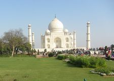 Tajmahal India één van zeven is van de wereld benieuwd Stock Foto