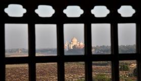 Tajmahal Od Czerwonego Agra fortu Zdjęcia Stock