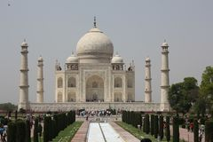 The Taj Mahal wonder of the Mughal Empire stock photography