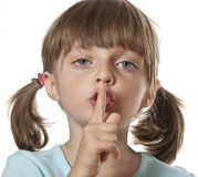 tajna pojęcie cisza zdjęcie stock