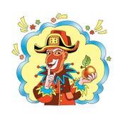 Tajna tajemnica imaginacyjny komiczny charakter Obraz Stock