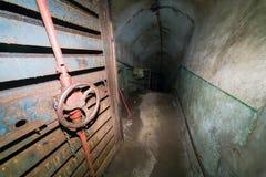 Tajnej partii komunistycznej Jądrowy bunkier i schronienie - drzwi bramy Zdjęcie Royalty Free