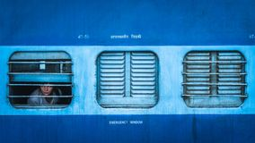Tajny agent klasy pociąg w indu widoku z zewnątrz fotografia stock