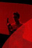 Tajny Agent Wzierna sylwetka w Lekkim obrazu tle Obrazy Royalty Free