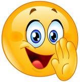 Tajny emoticon Zdjęcie Stock