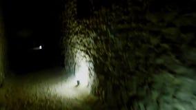 Tajny straszny anciant tunel Rumuński theatre audytorium budował Romanians w Aleksandria Egipt zbiory wideo