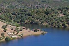 Tajo河在Monfrague,西班牙 免版税库存照片
