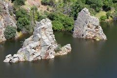 Tajo河在Monfrague,西班牙 免版税图库摄影