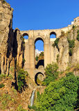 Tajo de朗达,新的桥梁,马拉加省,安大路西亚,西班牙 免版税库存照片