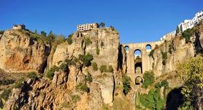 Tajo de Ronda, νέα γέφυρα, επαρχία της Μάλαγας, Ανδαλουσία, Ισπανία Στοκ εικόνες με δικαίωμα ελεύθερης χρήσης