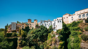 Tajo De Ronda Is A Gorge Carved By The Guadalevin Stock Image