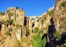 Tajo de Ronda, Nowy most, Malaga prowincja, Andalusia, Hiszpania obrazy royalty free