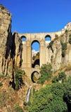 Tajo de Ronda, ny bro, Malaga landskap, Andalusia, Spanien Royaltyfria Foton