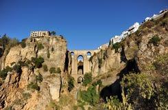 Tajo de Ronda, ny bro, Malaga landskap, Andalusia, Spanien Arkivfoto