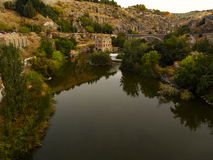 Tajo-Fluss in Toledo Lizenzfreie Stockfotos