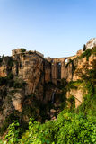 Tajo gorge bridge connect old and new in Ronda Royalty Free Stock Photos