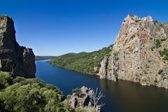 Tajo River in Monfrague, Spain Stock Photos