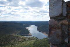 Tajo river from the mountain Royalty Free Stock Photography