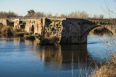 Tajo River, Roman Bridge passing through Talavera de la Reina, T Royalty Free Stock Photos