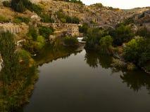 Tajo rzeka w Toledo Zdjęcia Royalty Free