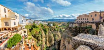 Tajo wąwóz Ronda, Andalusia, Hiszpania obraz royalty free