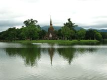 tajska stupa lake Fotografia Royalty Free