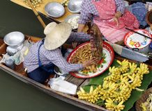 tajski pływający rynku Zdjęcia Stock