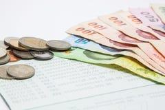 tajski pieniądze Fotografia Royalty Free