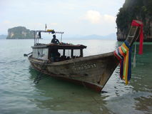 tajski połowowych łodzi Zdjęcie Stock
