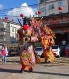 Tajwańscy Świątynni tancerze Obrazy Stock