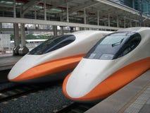 Tajwańscy Wysocy prędkość pociągi zdjęcie stock