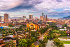 Tajwańska miasto linia horyzontu fotografia stock