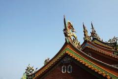 Tajwański świątynia dach zdjęcia royalty free