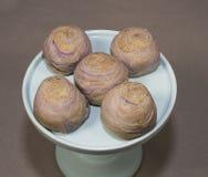 Tajwańscy taro Mooncakes Zdjęcie Royalty Free