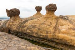 Tajwańska Yehliu geologiczna rockowa formacja Zdjęcie Stock