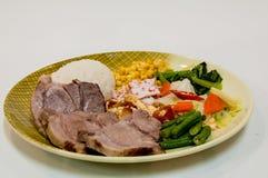 Tajwański jedzenie - wieprzowina set zdjęcia stock