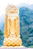 TAJWAN - Jan 18 2016: Kshitigarbha statua przy Xiangde świątynią w T Fotografia Stock