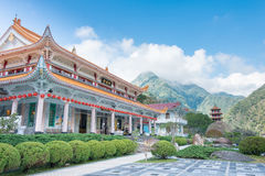 TAJWAN - Jan 18 2016: Xiangde świątynia w Taroko parku narodowym A Fotografia Royalty Free