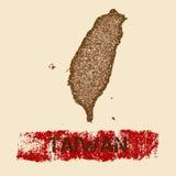 Tajwan martwił mapę royalty ilustracja
