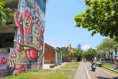 Tajwan: Pier-2 sztuki centrum Obrazy Royalty Free